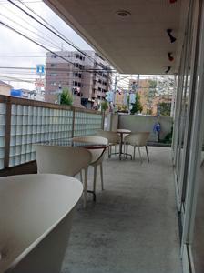 ドッグカフェ イーストパラダイスのテラス